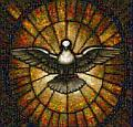 Stained glass Dove of Peace in St. Peter's Basilica. See Zoom and Pan mosaic.