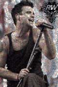 Robbie Williams mosaic poster - www.robbiewilliams.com